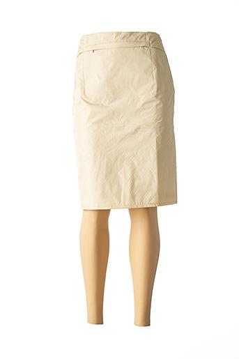 Jupe mi-longue beige CREEKS pour femme