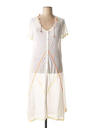 Robe longue blanc BE THE QUEEN pour femme