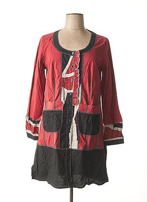 Robe mi-longue rouge BE THE QUEEN pour femme