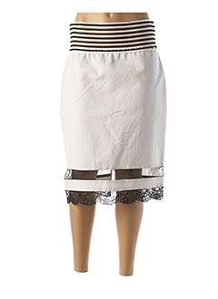 Jupe mi-longue blanc CRISTINA EFFE pour femme
