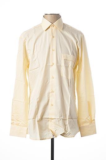 Chemise manches longues jaune JEAN CHATEL pour homme