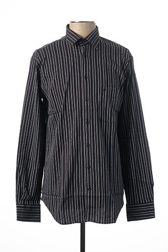 Chemise manches longues noir JEAN CHATEL pour homme