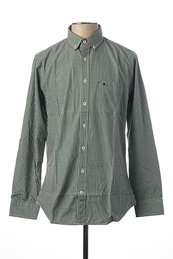 Chemise manches longues vert MEN OF ALL NATION pour homme