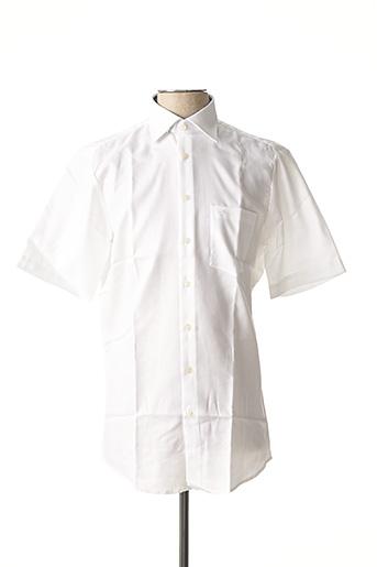 Chemise manches courtes blanc SEIDEN STICKER pour homme