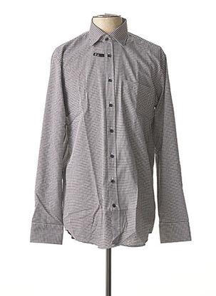 Chemise manches longues gris SEIDEN STICKER pour homme