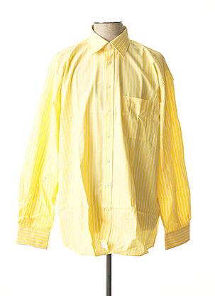 Chemise manches longues jaune SEIDEN STICKER pour homme
