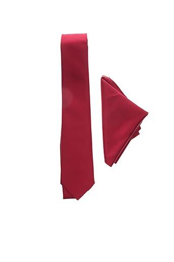 Cravate rouge GUY LAURENT pour homme