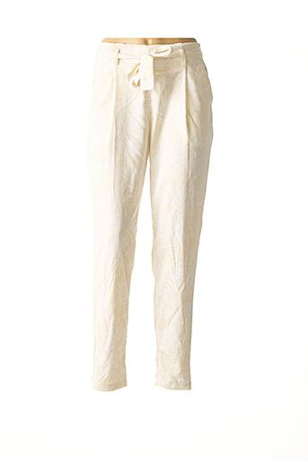 Pantalon casual beige TIFFOSI pour femme