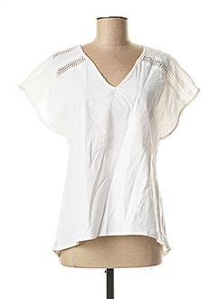 Blouse manches courtes blanc SARAH JOHN pour femme