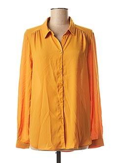 Chemisier manches longues orange VILA pour femme