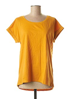 T-shirt manches courtes orange VILA pour femme