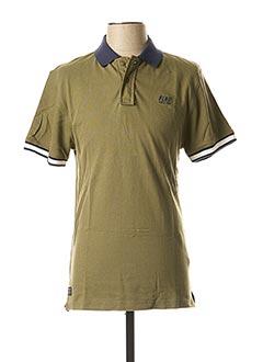 Polo manches courtes vert BLEND pour homme