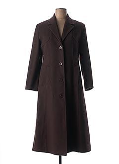 Manteau long marron LORENA PARIS pour femme