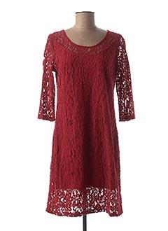 Robe mi-longue rouge HALOGENE pour femme