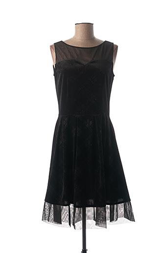 Robe mi-longue noir FILLE A SUIVRE pour femme