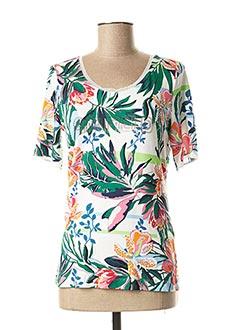 T-shirt manches courtes blanc AIRFIELD pour femme