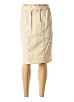 Jupe mi-longue beige AGATHE & LOUISE pour femme