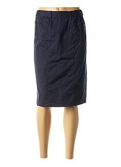 Jupe mi-longue bleu AGATHE & LOUISE pour femme