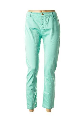 Pantalon 7/8 vert BARILOCHE pour femme