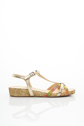 Sandales/Nu pieds jaune BZ BIS pour femme