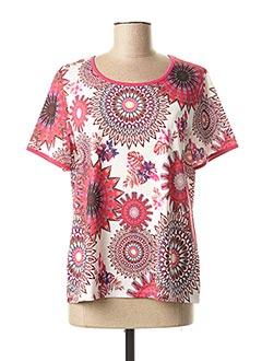 T-shirt manches courtes rose TELMAIL pour femme