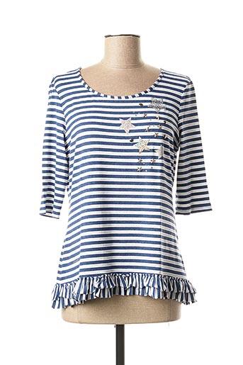 T-shirt manches longues bleu DIVAS pour femme