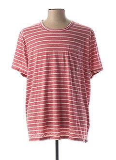T-shirt manches longues rouge TIBET pour homme