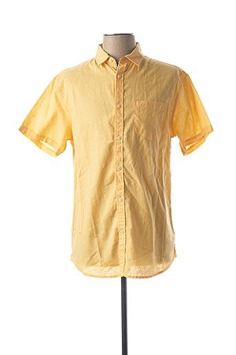 Chemise manches courtes jaune TIBET pour homme
