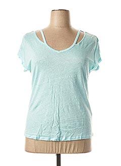 T-shirt manches courtes bleu MADO ET LES AUTRES pour femme