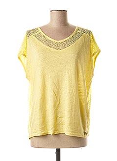 T-shirt manches courtes jaune MADO ET LES AUTRES pour femme