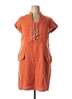 Robe mi-longue orange MADO ET LES AUTRES pour femme