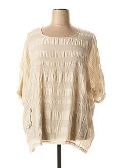 Tunique manches courtes beige EVA TRALALA pour femme