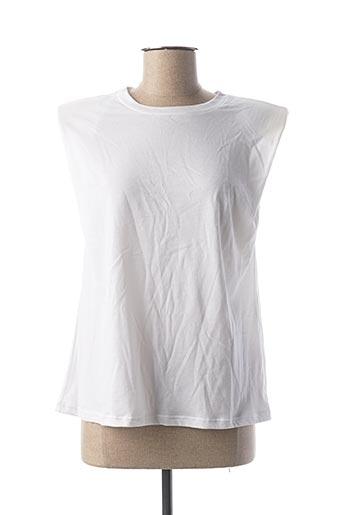 T-shirt manches courtes blanc CLP pour femme
