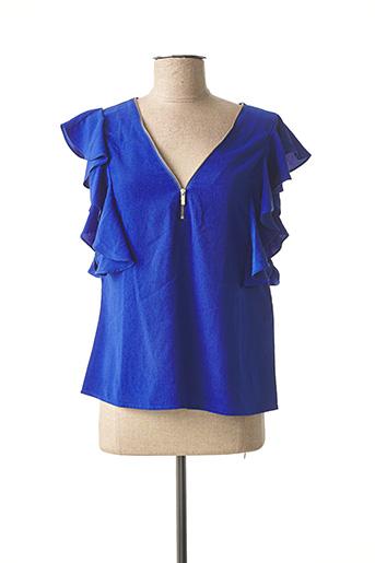 Blouse manches courtes bleu MORGAN pour femme