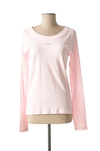 T-shirt manches longues rose GALLICE pour femme