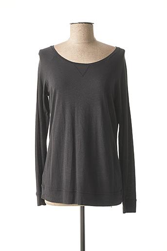 T-shirt manches longues noir PETIT BATEAU pour fille