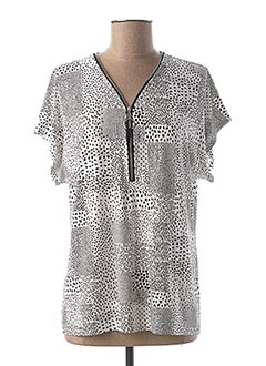 T-shirt manches courtes noir GRIFFON pour femme