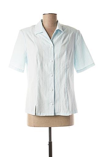 Chemisier manches courtes bleu GUY DUBOUIS pour femme