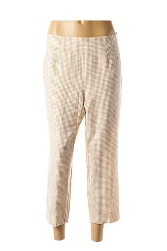 Pantalon 7/8 beige GUY DUBOUIS pour femme
