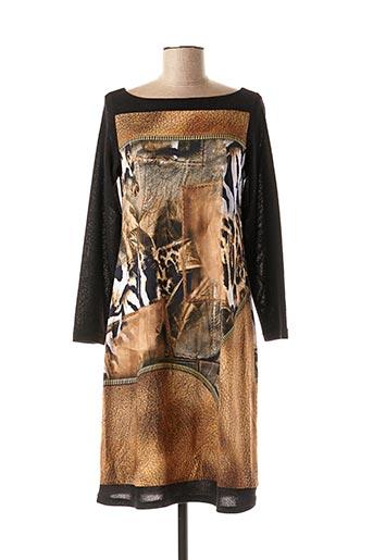 Robe mi-longue beige BARANDI pour femme