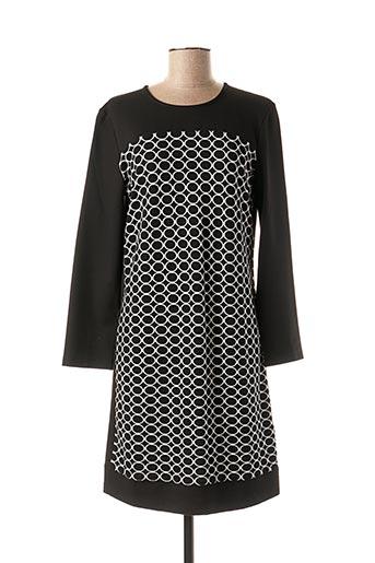 Robe mi-longue noir GRIFFON pour femme