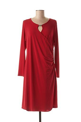 Robe mi-longue rouge BARANDI pour femme