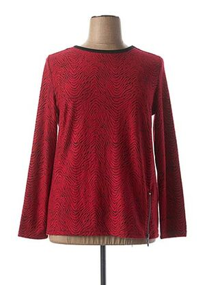 Pull col rond rouge BRANDTEX pour femme