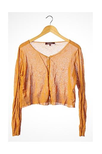Gilet manches longues orange MAXMARA pour femme