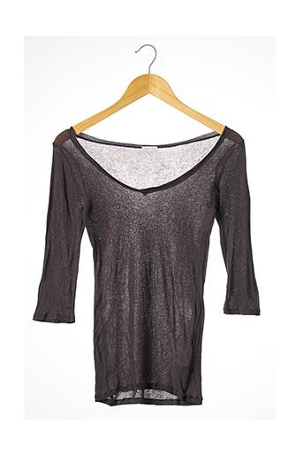 T-shirt manches longues gris AMERICAN VINTAGE pour femme