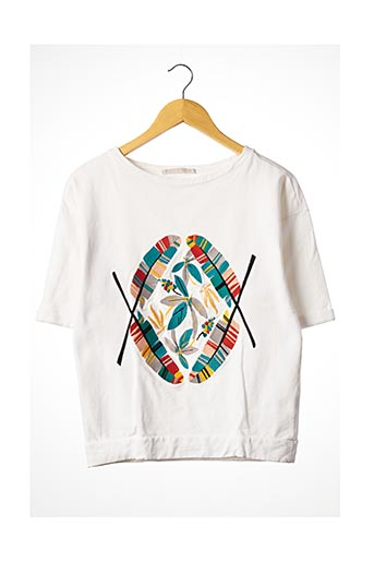 Sweat-shirt blanc YAYA pour femme
