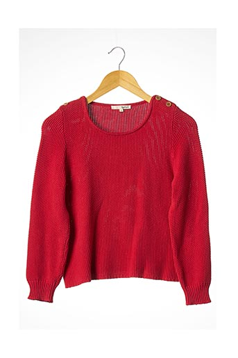 Pull col rond rouge BA&SH pour femme