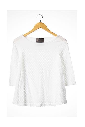 T-shirt manches longues blanc ES.GIVIEN pour femme