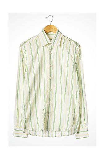 Chemise manches longues vert CHRISTIAN LACROIX pour homme