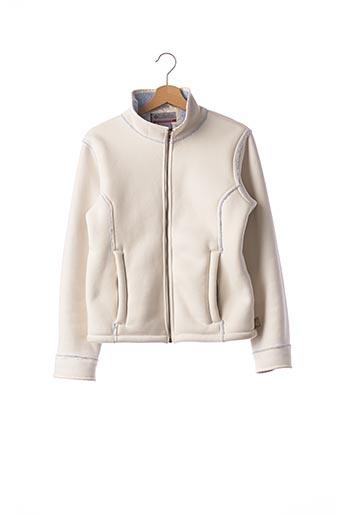 Manteau court blanc COLUMBIA pour femme